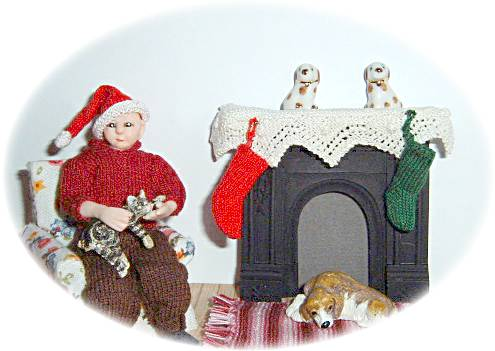 Pattern for dolls stocking and hat