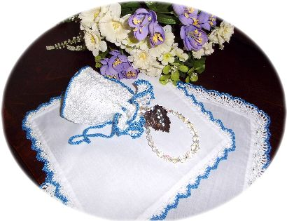 pattern for crochet reticule and hankies