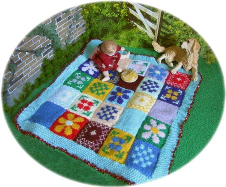 picnic rug for dolls house