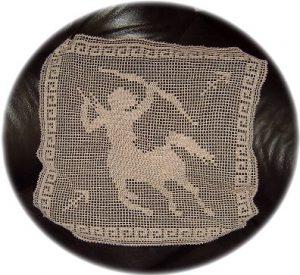 Crochet pattern for Sagittarius