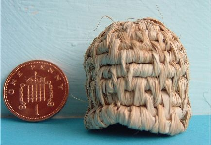 miniature bee skep kit from Buttercup Miniatures