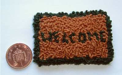 1:12th scale welcome rug