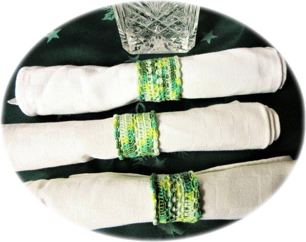 Pattern for napkin rings