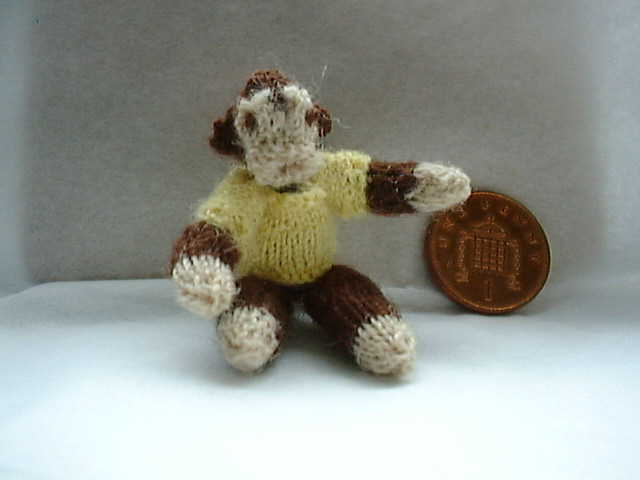 miniature monkey toy