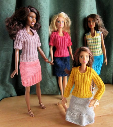 Patterns for dolls skirts and jumpers