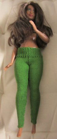 miniature knitted leggings