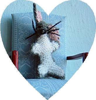 miniature knitted toy