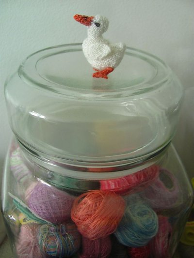 miniature knitted duck