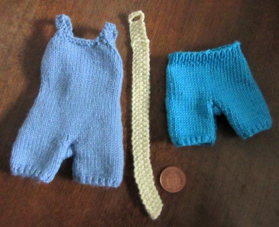 Miniature knitted swimwear