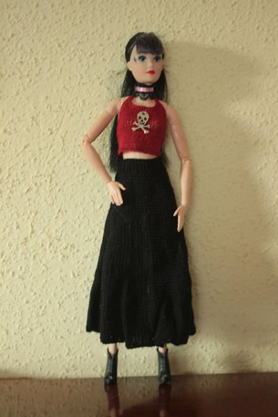 knitted outfit for doll