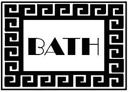 template for bath mat