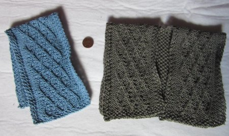 miniature knitted wraps