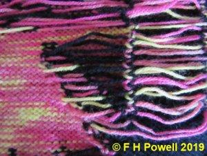 back of knitting