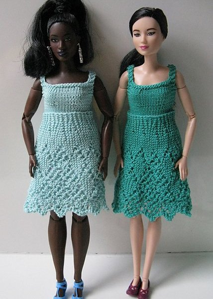 miniature knitted dresses
