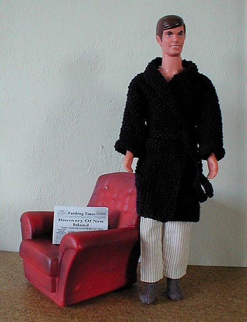 miniature knitted dressing gown