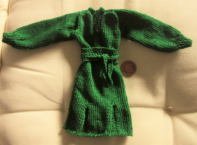 Miniature knitted dress