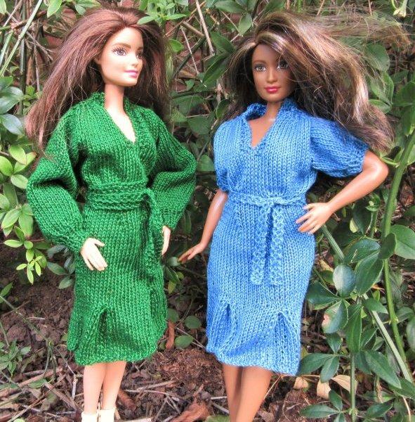 Miniature knitted dress