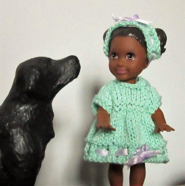 miniature knitted dress set