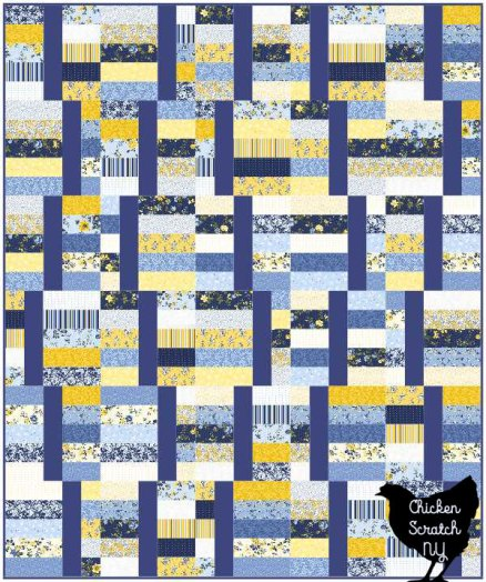 computer image of jelly waves easy and fast beginner friendly 2 1/2 inch strip quilt