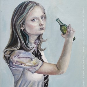 """Girl Drinking a Beer"" by artist Ruby McMenemy-Taylor"