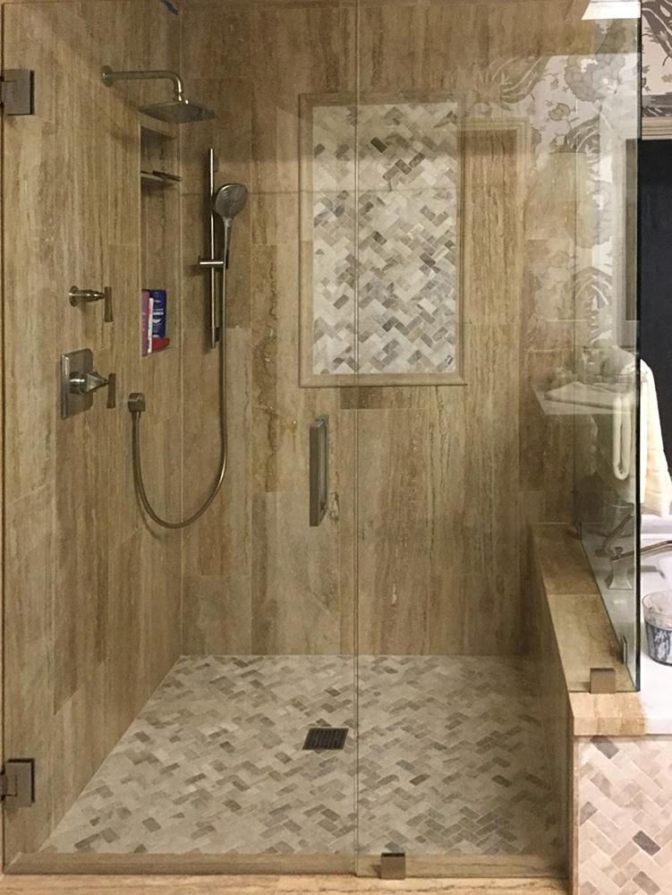 bathrooms showers pebble tile shop