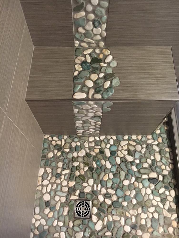 pebble tile showers pebble tile shop