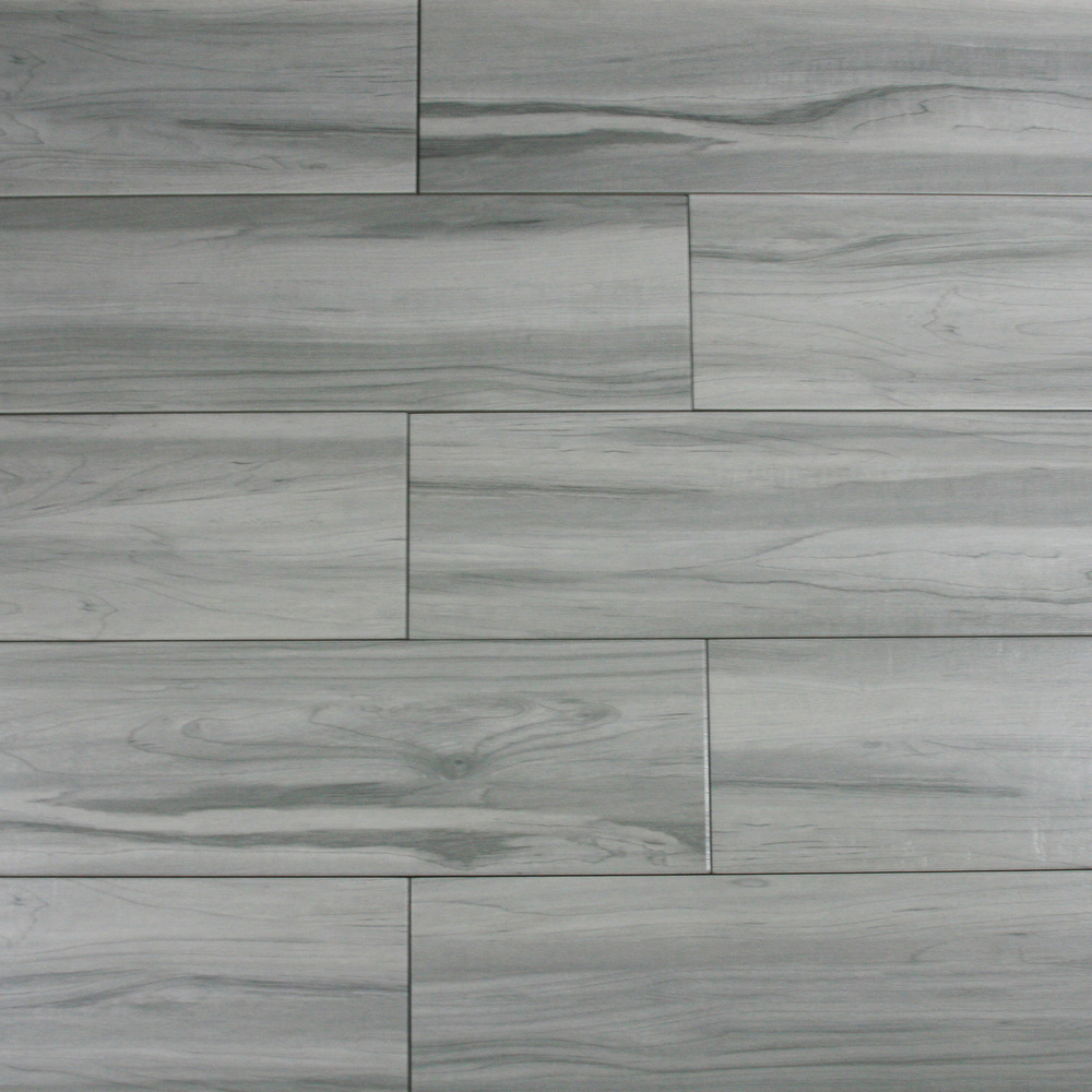 weathered grey wood look porcelain tile