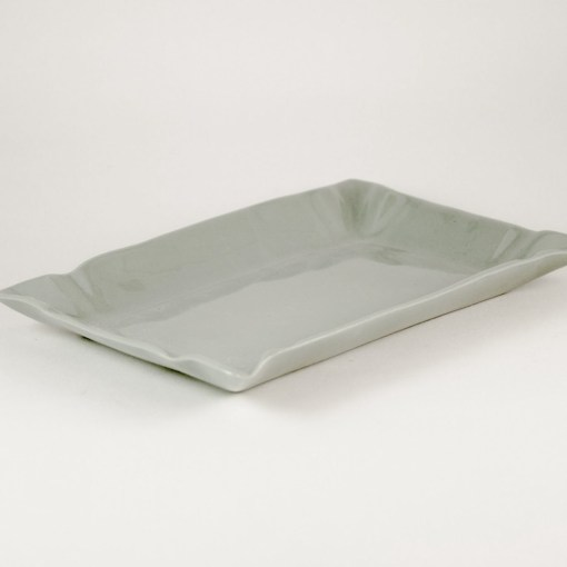 LIGHT GRAY PAPER PLATE by Manufaktura Porcelany