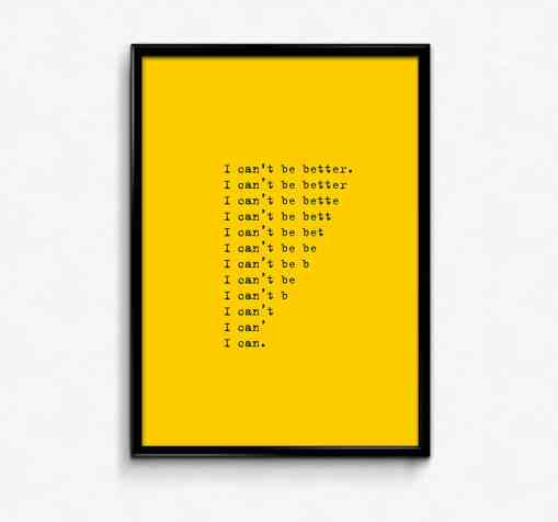 """""""I can"""" 