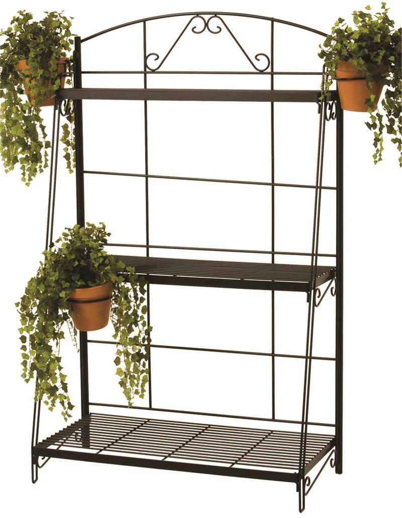 3 shelf plant stand black river north