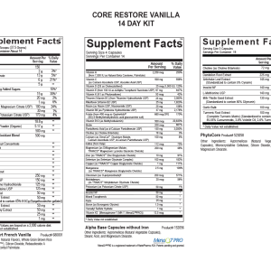 Core Restore 14-Day Kit (Vanilla)