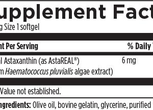 Astaxanthin 6mg softgels*