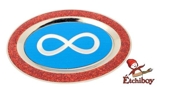 Plate Magnet Aimant Assiète Métis Flag Drapeau Métis Red Rouge 1