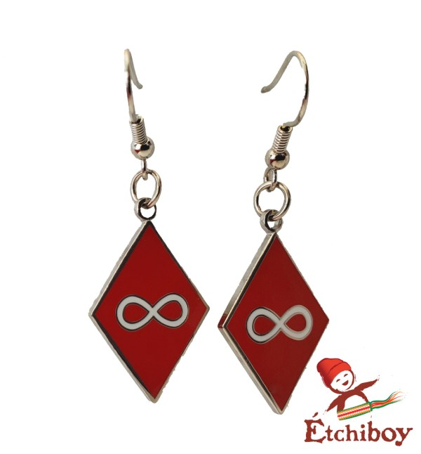 Earrings Boucles D'oreilles Métis Red Rouge 1
