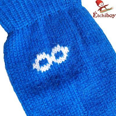 Knee high Socks Bas Hauteur Du Genou Alpaca Wool Laine Alpaga Blue Bleu One Size Fits All 3
