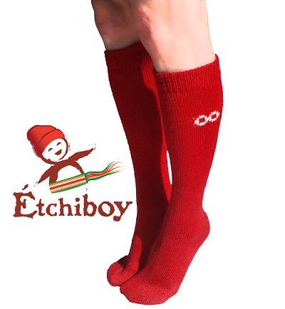 Knee high Socks Bas Hauteur Du Genou Alpaca Wool Laine Alpaga Red Rouge One Size Fits All 3