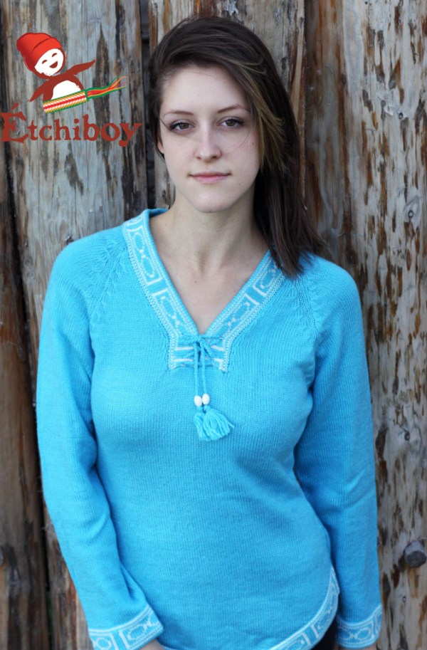 Light Turquoise Sweater Chandail Turquoise Pâle 1