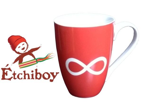 Red Infinity Mug Tasse Infini Rouge 1