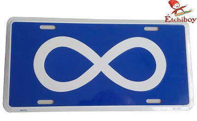 License Plate Métis Flag Plaque D'immatriculation Drapeau Métis 1