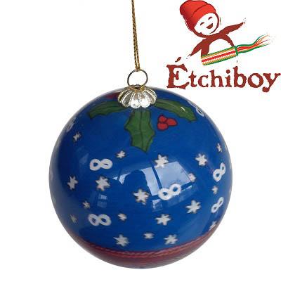Christmas Bulb Blue Boule De Noël Bleue 1