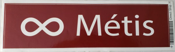 Bumper Sticker Red Métis Autocollant de Pare-Choc Rouge Métis 1