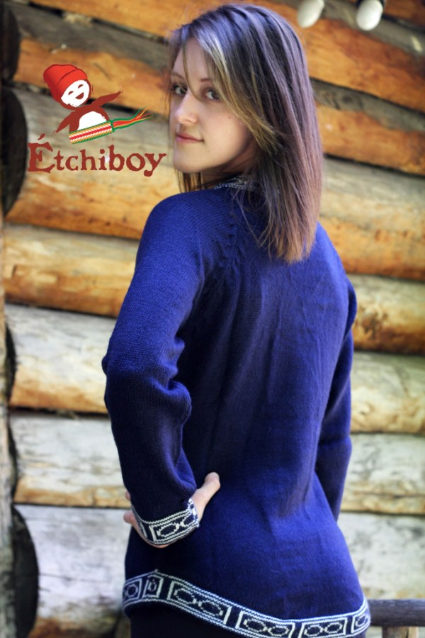 Navy Blue Sweater Chandail Bleu Marin 2