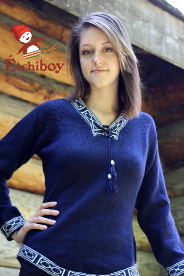 Navy Blue Sweater Chandail Bleu Marin 1