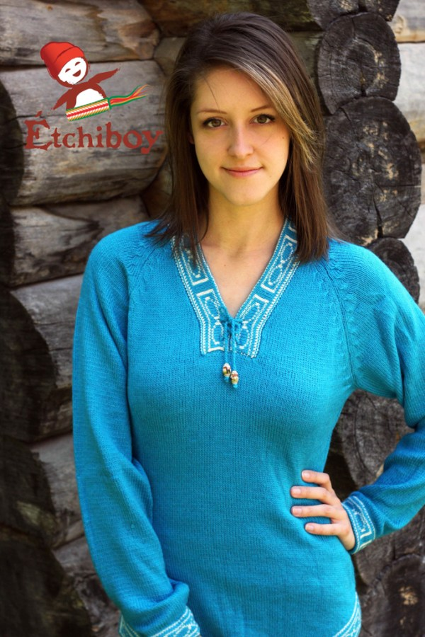 Turquoise Sweater Chandail Turquoise 1