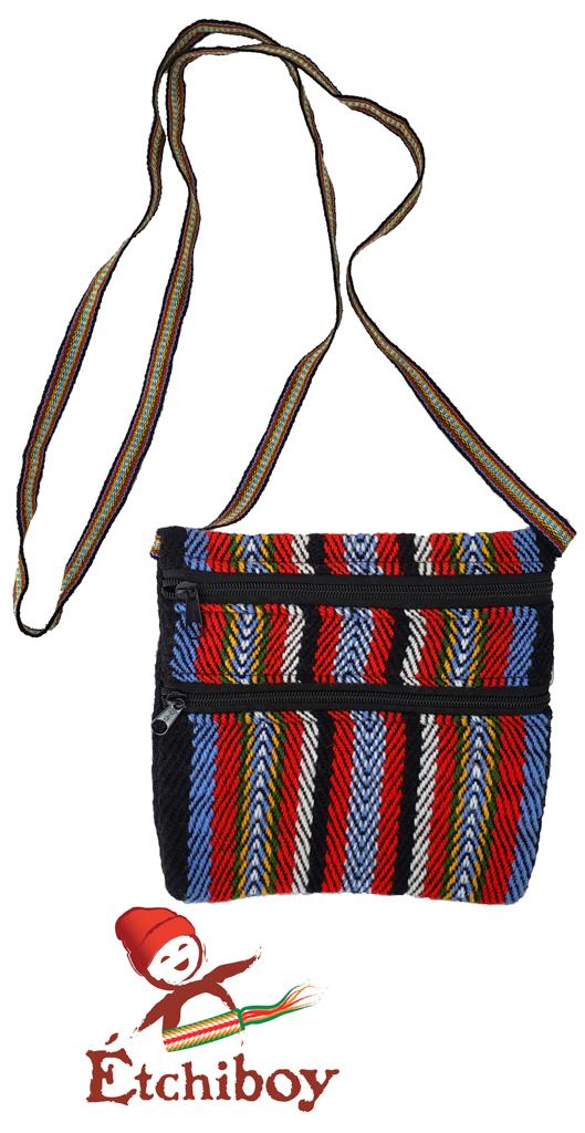 Carnaval De Québec Blue Bleu 2 Zipper Bag Medium Sac Moyen 2 Fermetures Éclair 1