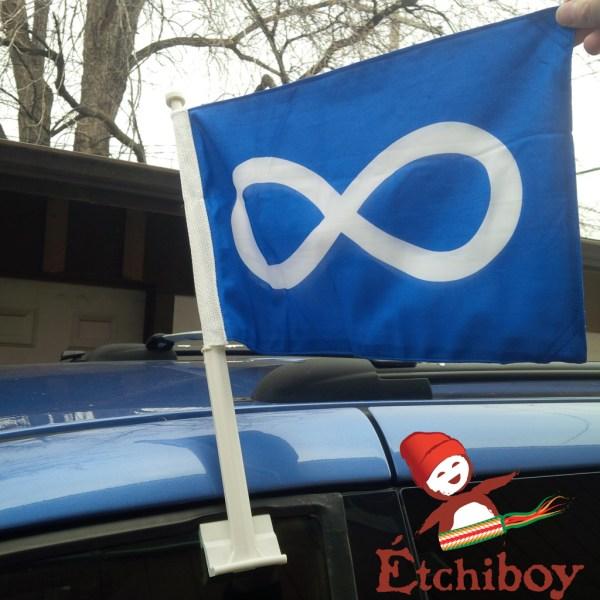 Métis Car Flag Drapeau de Voiture Métis 2