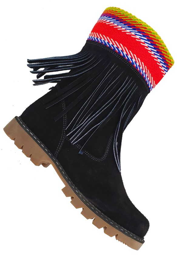La Galette Leather Ankle Boot With Fringes Bottine Cuir Avec Franges 4