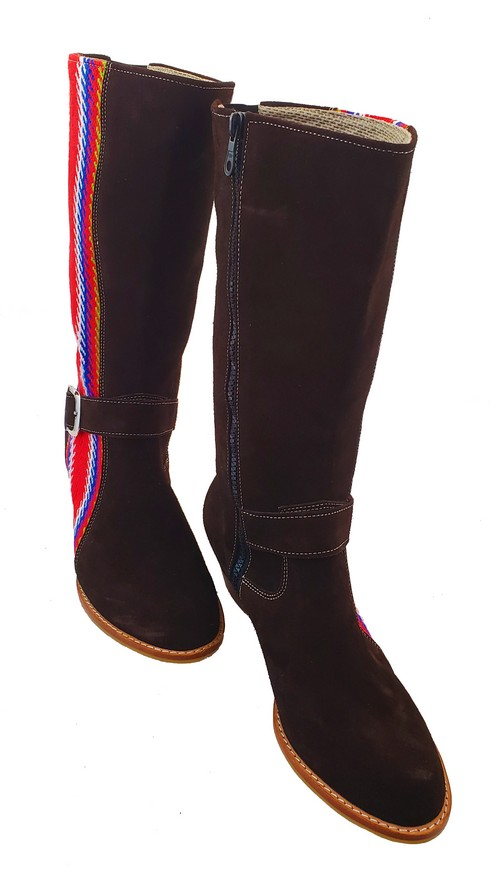 Red River Buckled Leather Boot With Strap Botte A Boucle Avec Bande 8