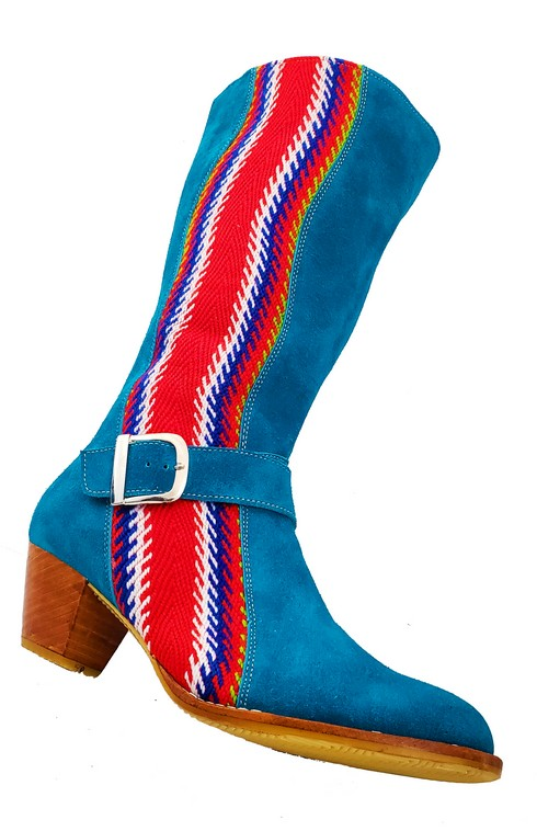 Red River Buckled Leather Boot With Strap Botte A Boucle Avec Bande 1