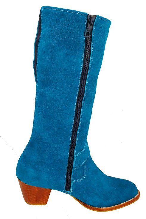 Red River Buckled Leather Boot With Strap Botte A Boucle Avec Bande 2